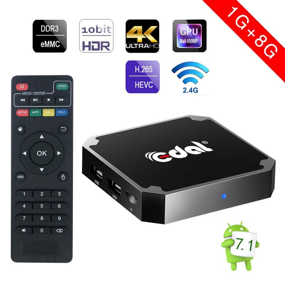 Android 7.1 tv box, Edal X96mini 1GB 8GB Amlogic Quad Core Suppot H.265 4K 30tps 2.4GHz WiFi Media Player