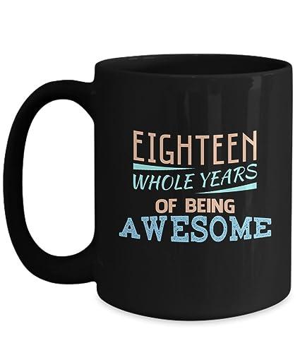 18th Birthday Shirt Gift Age 18 Year Old Boy Girl NINETEEN 11 15 Oz Ceramic Coffee