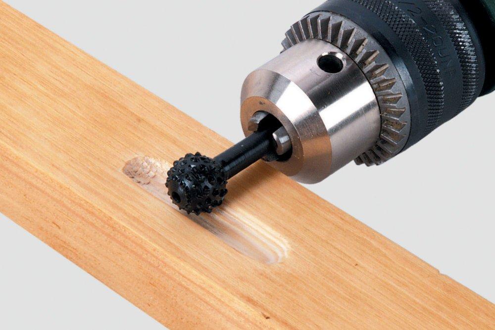 v/ástago 6,35 mm /Ø 14 x 30 mm Escofina para madera periforme Wolfcraft 2536000