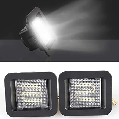 2 Packs LED License Plate Light Lamp Compatible with 2015-2020 Ford F150 and F150 Raptor Car Replacement Accessories Part 6000K White: Automotive