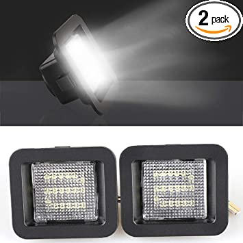 2 Packs LED License Plate Light Lamp Compatible with 2015-2019 Ford F150 and F150 Raptor Car Replacement Accessories Part 6000K White