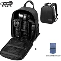Brain Freezer J DSLR SLR Camera Lens Shoulder Backpack Case for Canon Nikon Sigma Olympus (Black)