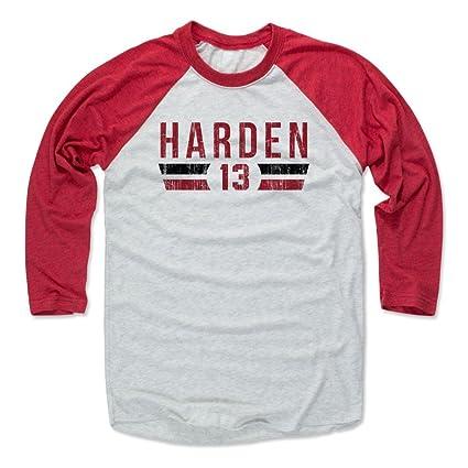 27d77d9d6761 500 LEVEL James Harden Baseball Tee Shirt X-Small Red Ash - Houston  Basketball