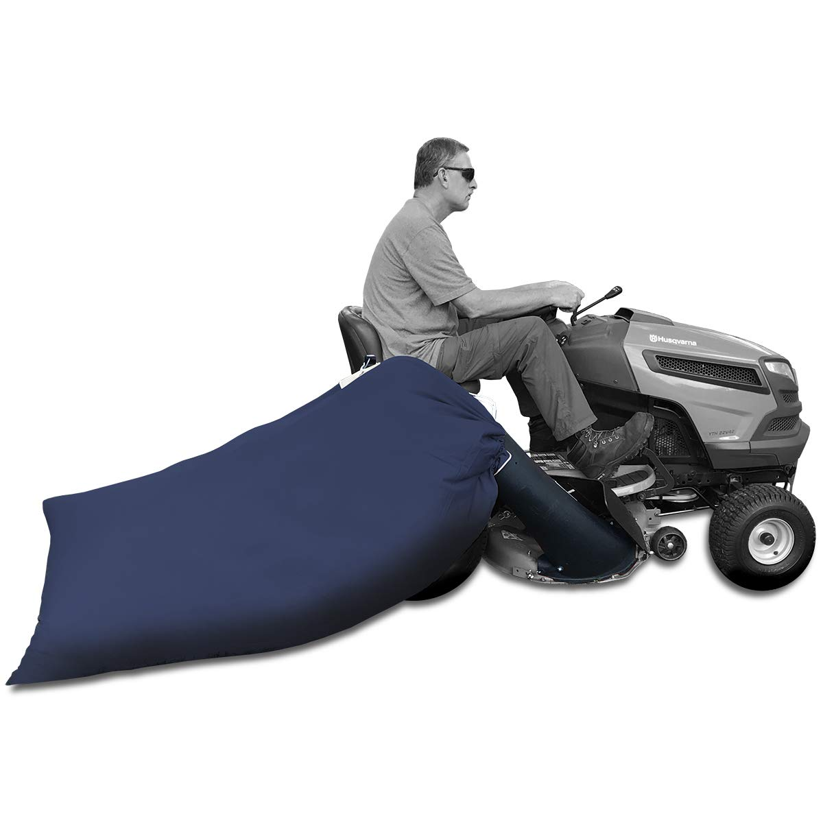 Lawn Tractor Leaf Bag - 90 gal. Bag with Chute Kit for Husqvarna/Poulan/Dixon Lawn Tractors with 42-in. Decks [LTLB95001]