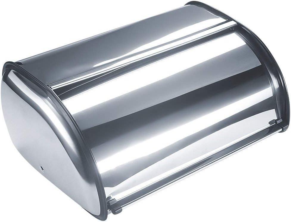 Tebery Panera de acero inoxidable cepillado con tapa enrollable ...