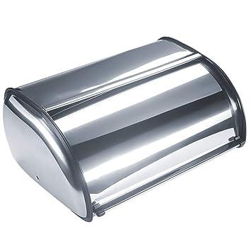 Besnail - Panera de acero inoxidable cepillado con tapa ...