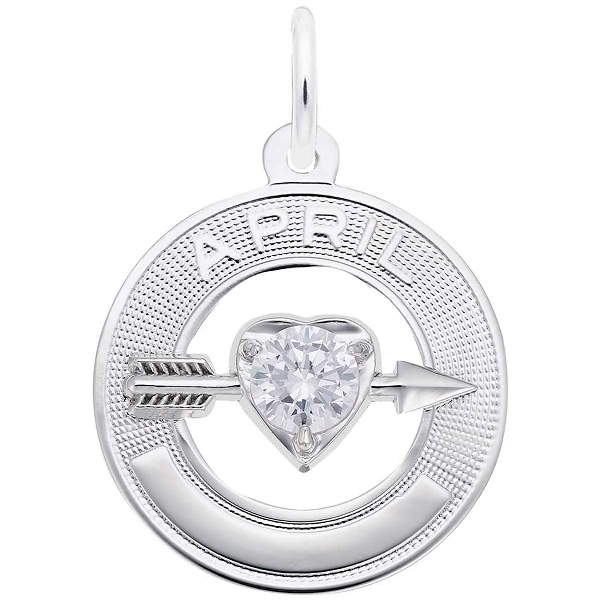 Rembrandt Charms April Birthday Charm, Sterling Silver