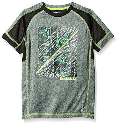 Reebok Big Boys' Active Short Sleeve T-Shirt, Heather Sky Grey, S (8)