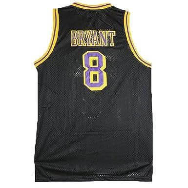 695395fc1bcc Fadaster Men s Kobe Jersey Los Angeles 8 Legend Jerseys Retro Basketball  Jersey Black(S-
