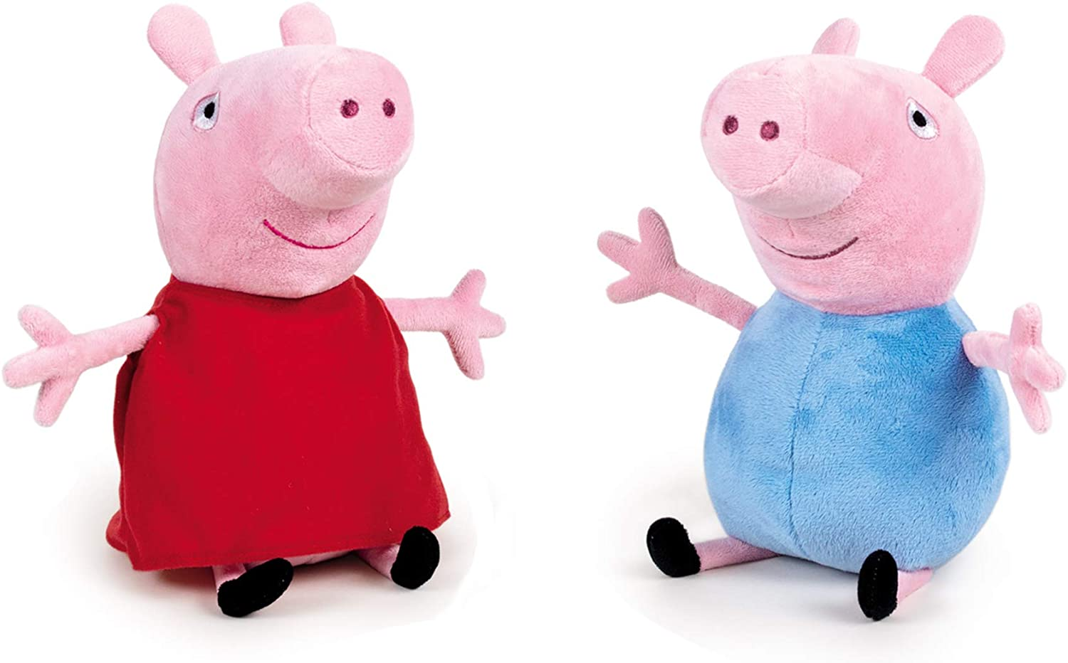 Peppa Pig - Pack de 2 Peluches Peppa Pig y George 20 centímetros - Calidad Super Soft
