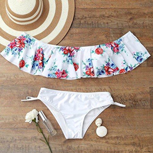 parola Swimsuit Thongs Beachwear balze bagno costume mutande Bikini Bagno Costumi BYSTE da Up Donna spalla da Donna Estate Padded Push Due Bianca mare Una Pezzi Coordinati reggiseno nzqgfO