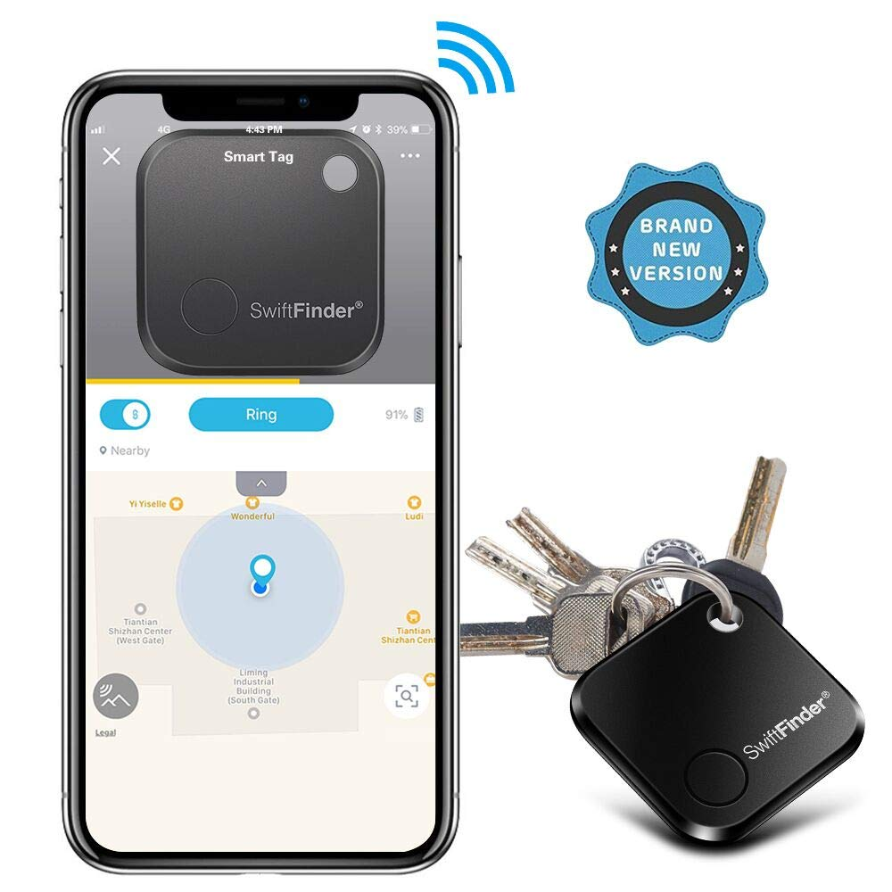Key Finder, Key Locator Bluetooth -Tracker Device with App Control for  iPhone, Smart Slim Wallet Bag Luggage Tracker, Compatible with iOS