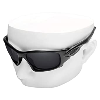 4f8cb3427a Amazon.com  OOWLIT Replacement Lenses Compatible with Oakley Ten X Sunglass  Black Non-polarized  Clothing