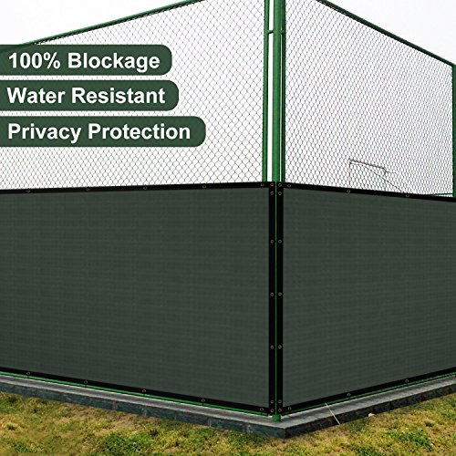 Coarbor 6'x25' Vinyl Coated Polyester (PVC) Mesh Privacy Fence Screen Fencing for Back Yard Deck Patio Garden Barrier Blocker 100% Blockage with Gommets on Edges 450GSM Make to Order-Green