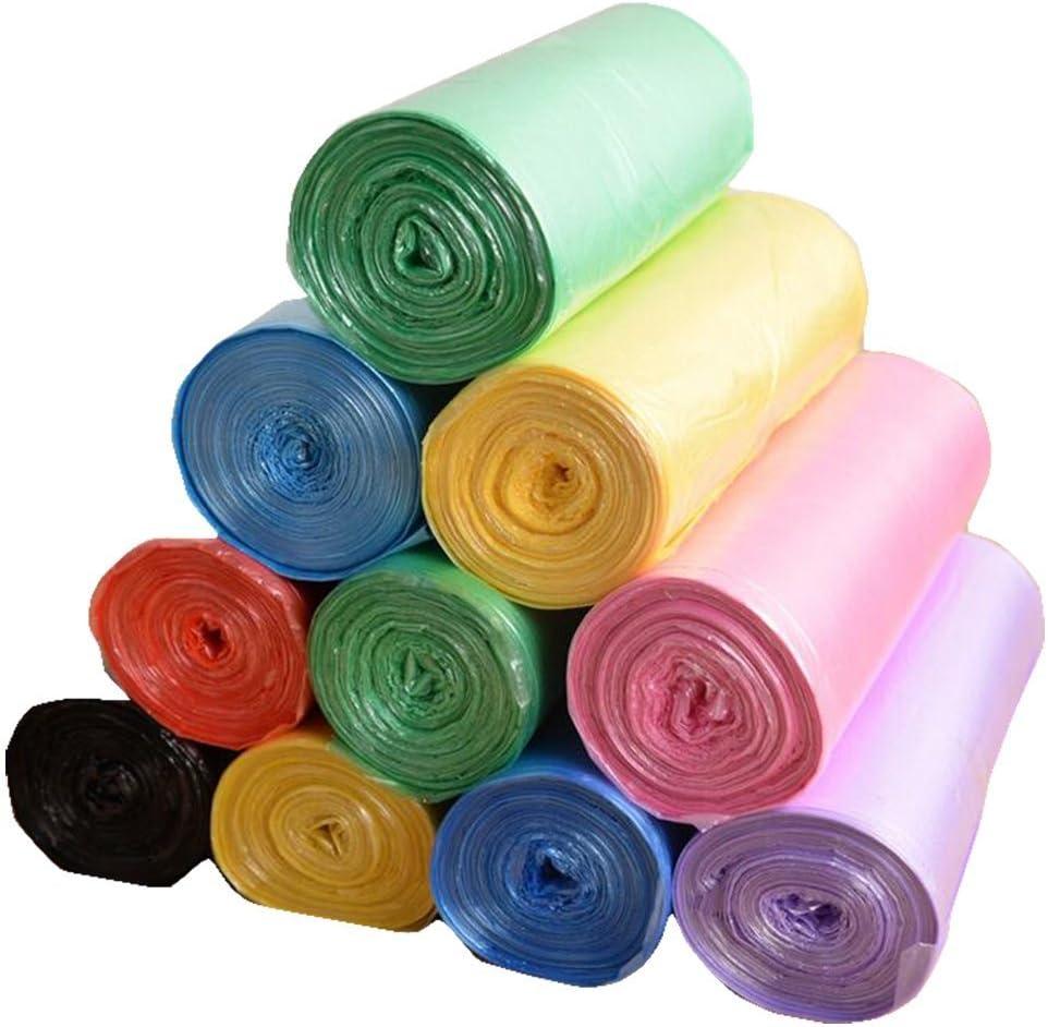 para papelera blanco colores amarillo azul 60 unidades Bolsas de 55 x 65 cm para basura o reciclaje