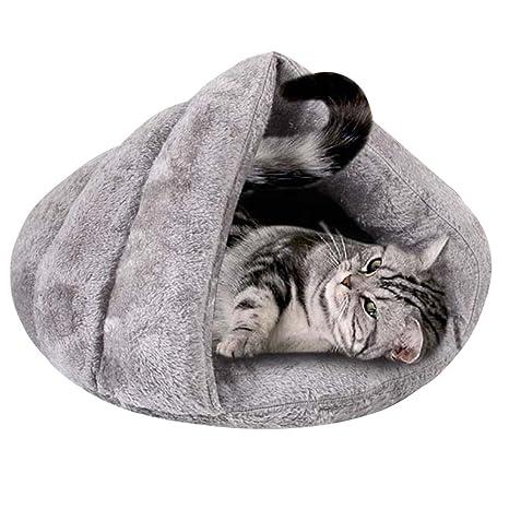 Baffect Saco de Dormir para Cama de Animal doméstico, Cueva de Gato Cama de iglú Suave ...
