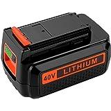 40 Volt MAX 3.0Ah Lithium Replacement Battery for Black and Decker 40V Battery LBX2040 LST136 LBXR2036 LBXR36 LHT2436…