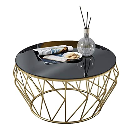 3e92b020d993 Image Unavailable. Image not available for. Color  Round Wrought Iron Glass  Coffee Table ...
