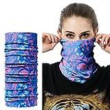 2pcs Seamless Outdoor 16 in 1 Multifunctional Headwear Bandana balaclava Headwrap Face Mask Necker Warmer Riding Sports Headband Scarf Breathable (C16)