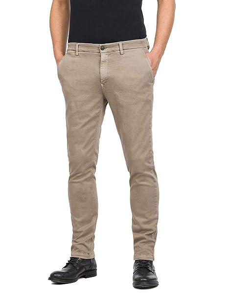 REPLAY Zeumar Pantalones para Hombre: Amazon.es: Ropa y ...