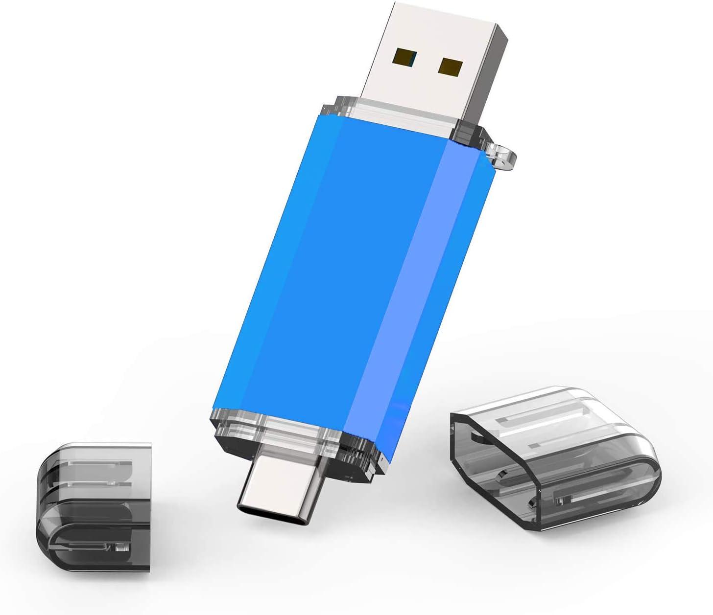 TOPESEL128GB OTG Flash Drive USB C Thumb Drive USB 3.0 Type C Dual Memory Stick for USB-C Smartphones,Tablets & New MacBook