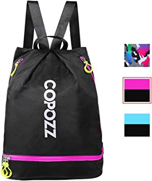 Dry-wet Separation Swim Bag Waterproof Backpack with Shoes Compartment Swimming