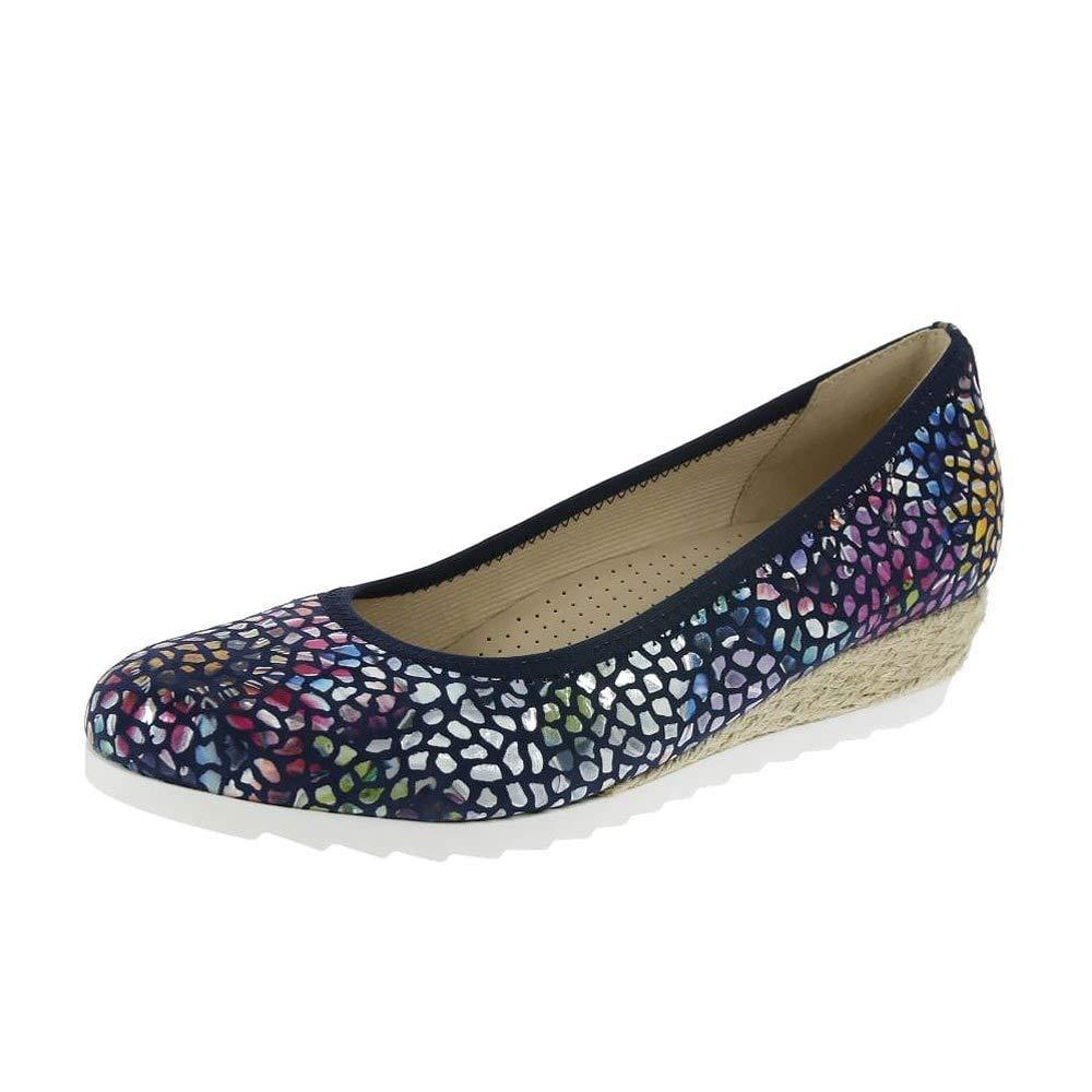 [ガボール] Epworth Womens Modernバレリーナ靴 5 F (W) UK/ 7 C/D(W) US River Flower Stamp B078N99B97