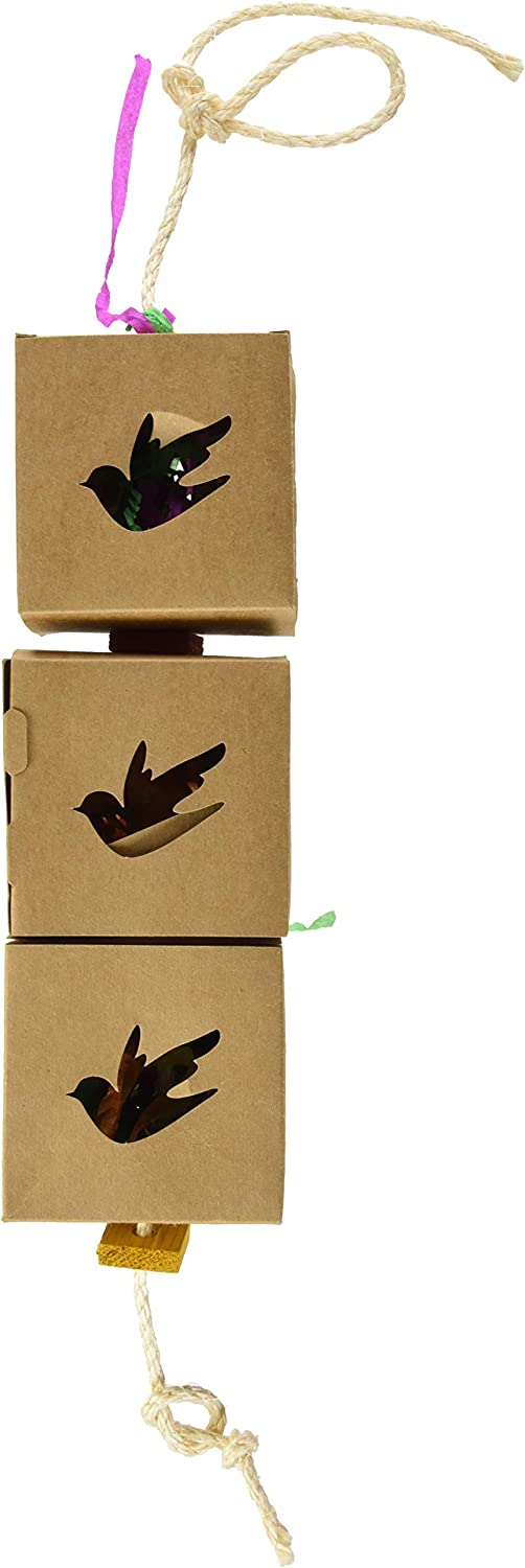 Featherland Paradise, Food Grade Chipboard Foraging Boxes, Bird Toy Great for Exercise & Feeding