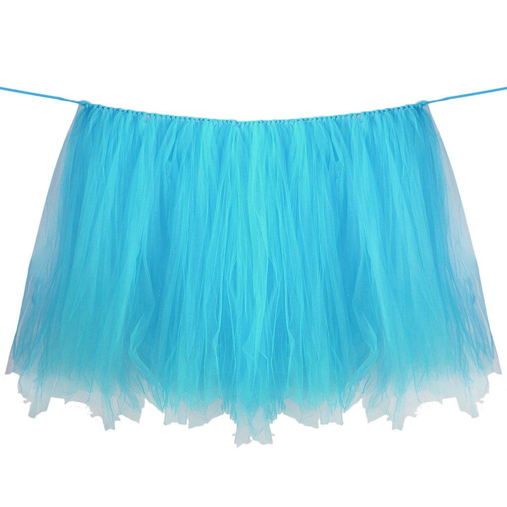 Falda de la Tabla de Tul Tutú Mantel de la Boda del Bebé para duchar de Fiesta Decoración - Blanco Generic