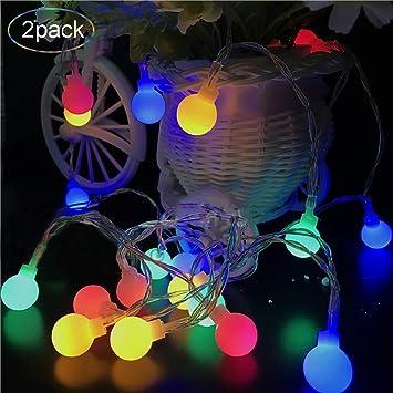 Amazoncom Color Changing Lights Led Globe String Lights 2 Pack