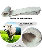 AOLVO Plantillas de lana natural, plantillas de lana para mujeres de plantillas de alta calidad, plantillas de piel de oveja auténtica, suela de lana gruesa para mujer y hombre acogedora y cálida para todos los zapatos
