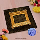 VROSELV Custom Cotton Microfiber Ultra Soft Hand Towel-picture gold frame with a decorative pattern Custom pattern of household products(14''x14'')
