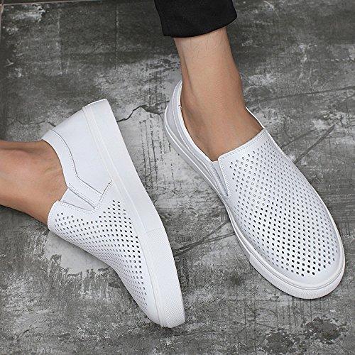 Cuir Véritable Semelle Hommes Wh Hommes en Style Perforation pour Perforation Les on en Slip ZX Simple Mocassins Chaussures Option Supérieur Plate Mocassin dxAq40qwY