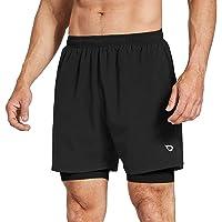 BALEAF Heren 2-in-1 5 inch Running Athletic Shorts Rits Pocket
