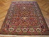 Original 5x7 Antique Persian Lavar Kerman Rug-Iran
