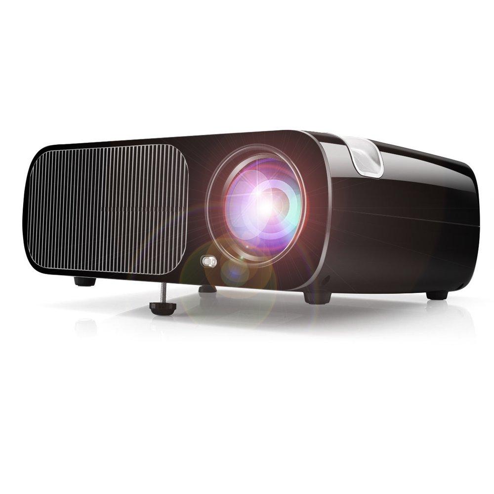 Proyector de ví deo HD, Proyector de cine en casa Ogima BL20, 2600 Lumens Proyector LCD Soporta 1080P Full HD VGA / HDMI / USB / SD / AV de entrada,1 Añ o de Garantí a