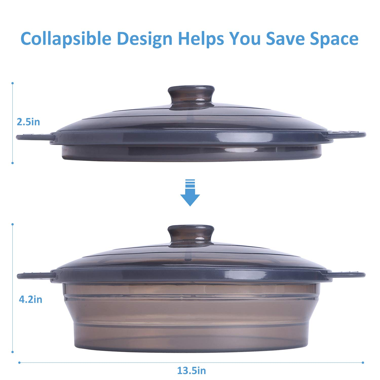 Amazon.com: Vapor de microondas plegable Bowl-Silicone ...