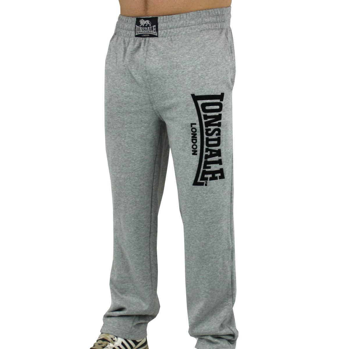 Lonsdale - Pantalón deportivo - para hombre gris Marl Grey: Amazon ...