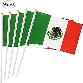 Funihut - Confezione di 50 Bandiere messicane tenute in Mano