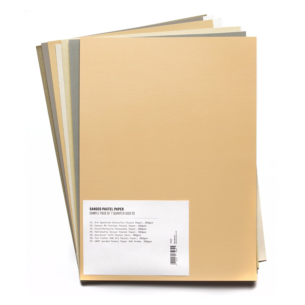 Sanded Pastel Paper : Comparison Pack of 7 Quarter Sheets Unbranded