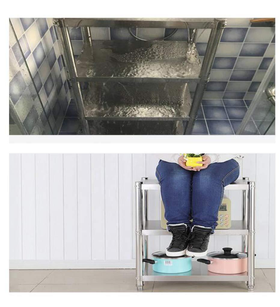 HUYYA Kitchen Storage Shelf Unit Rack Utility, Adjustable Pantry/Bakers Microwave Rack Multi-Functional Spice Rack,Silver_24x18x36inch by HUYYA (Image #3)