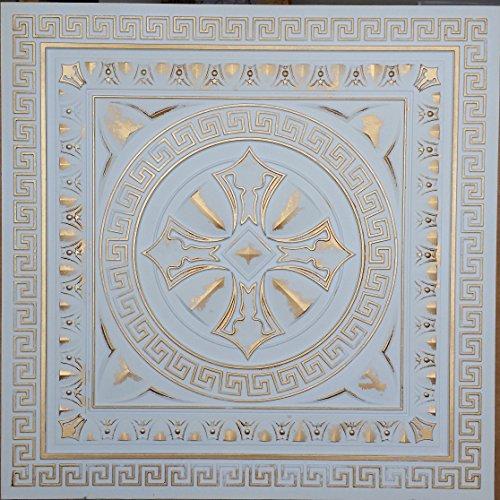 Amazon.com: PLASTDECOR Ceiling Tile Faux tin Paint White