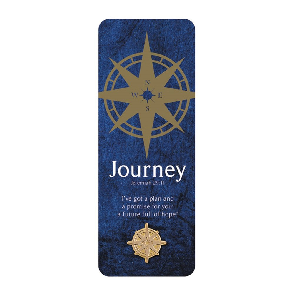 Journey Jeremiah 29:11 Compass Bookmark and Lapel Pin Graduation Class of 2018 Gift, 6 Inches