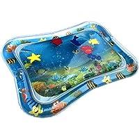hudiemm0B Cartoon Sea Animal Inflatable Baby Water Play Mat Infant Toddler Activity Pad