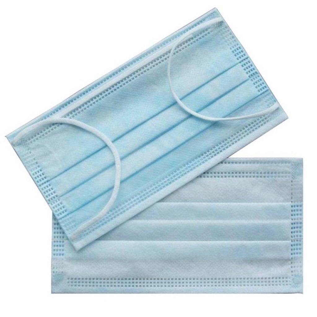 300 PC ( 6 BX) 3-Ply Blue Commercial Dental Medical Disposable Earloop Face Masks FDA Registered Approved