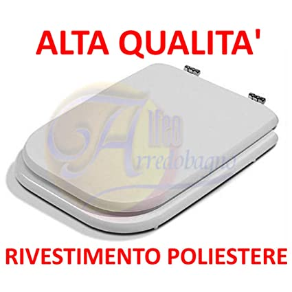 Sedile Wc Copriwater Bianco Ideal Standard Conca.Copriwater Ideal Standard Conca Bianco Coprivaso Poliestere Alta Qualita