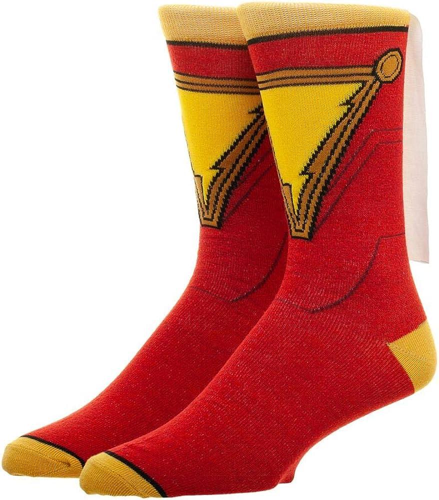 DC Comics Shazam! Suit Up Cape Crew Socks