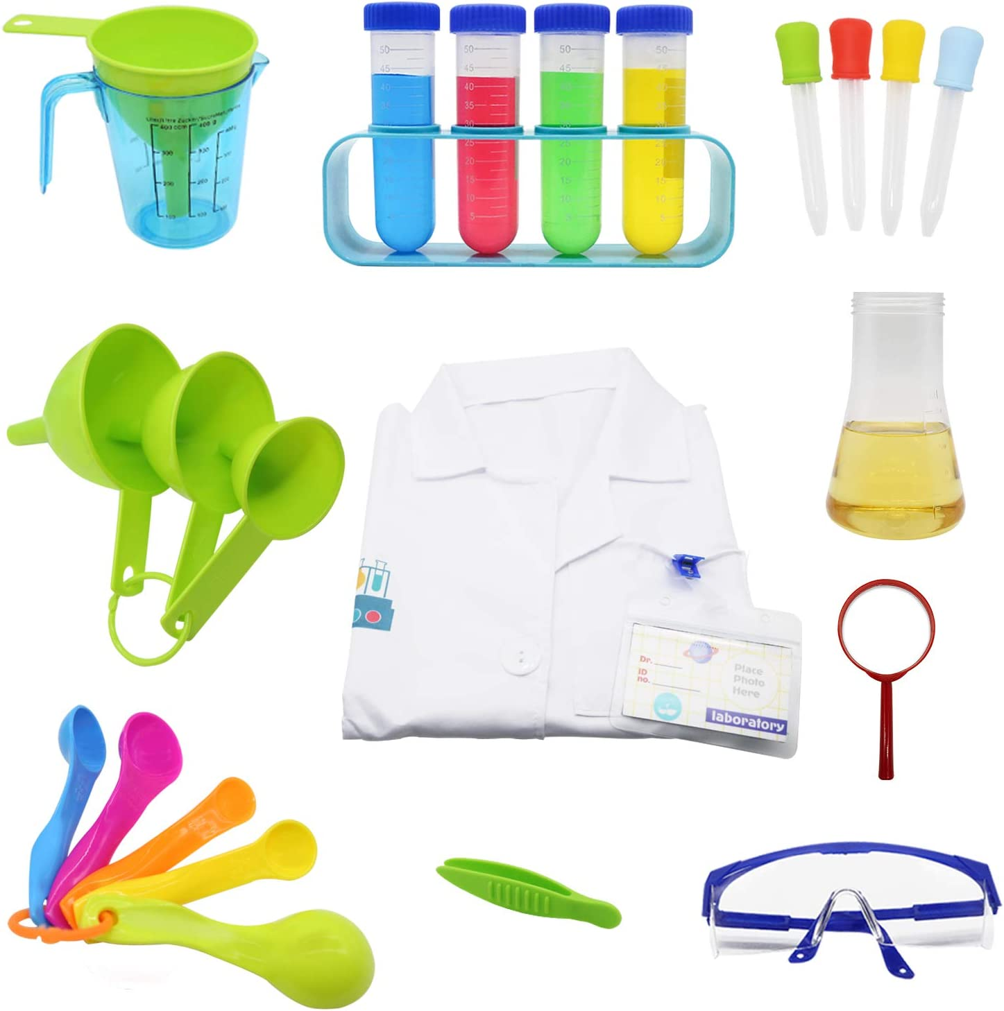 Science Kits for Kids Lab Coat Dress Up Role Toys Scientist Experiments Gift for Boys Girls