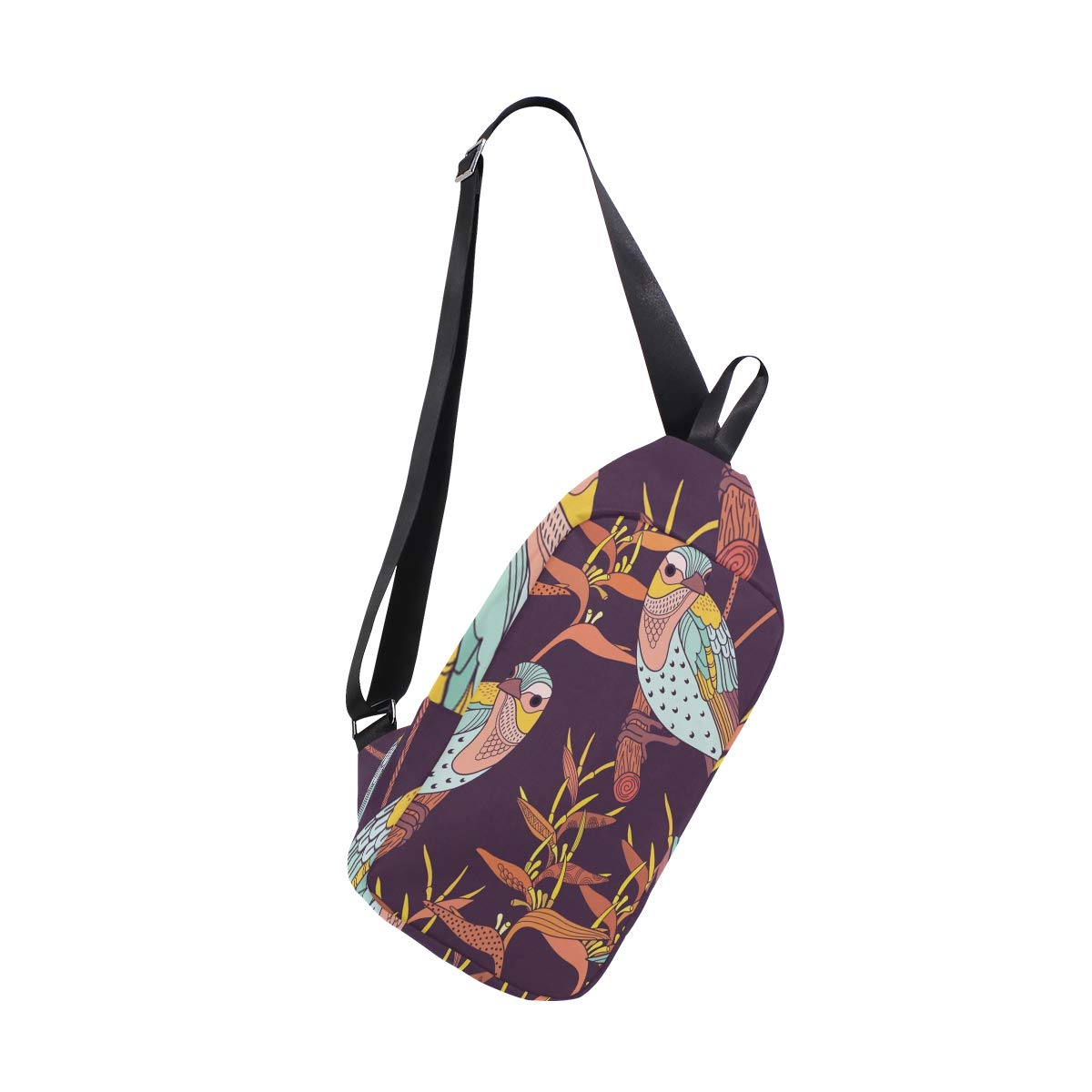TFONE Bird Pattern Crossbody Bag Lightweight Chest Shoulder Messenger Pack Backpack Sling Bag