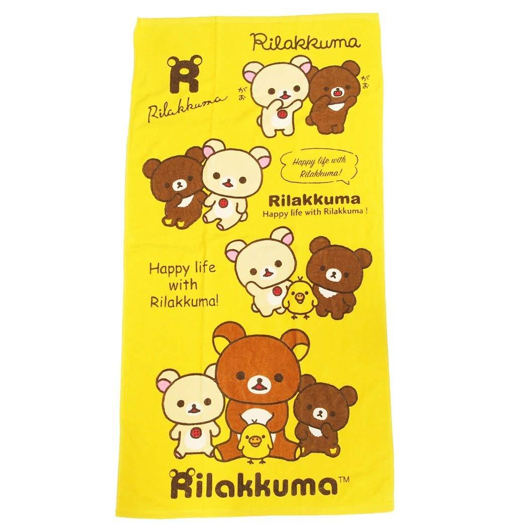 Marushin Rilakkuma Bath Towel Beach Towel Leisure Towel Rilakkuma Yellow 6445002200 LXTN-245